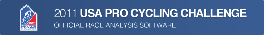 2011 USA Pro Cycling Challenge - Official Race Analysis Software